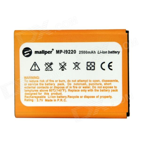 Mallper Replacement 3.7V 2500mAh Li-ion Battery for Samsung Galaxy Note i9220 / GT-N7000 - Orange bt l1 li ion battery for gowin total stations 7 2v li ion 3000mah brand ne w