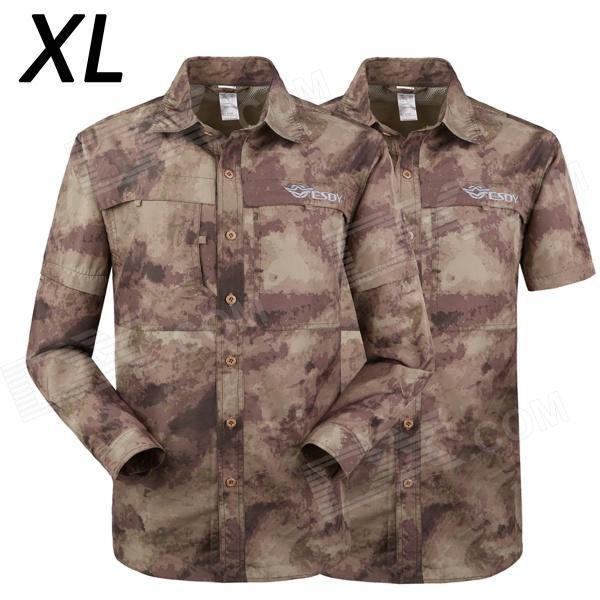 ESDY 616 Men's Quick-Dry Sleeve Removable Outdoor Shirt - Camouflage Ruins (XL) свитшот diesel diesel di303emrxx14