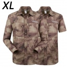 ESDY 616 Men's Quick-Dry Sleeve Removable Outdoor Shirt - Camouflage Ruins (XL)