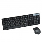 CHEERLINK HK-5200 4th Gen 2.4Ghz Super Slim 104-Key Wireless Keyboards w/ Touch Mouse - Black