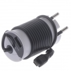 EU Plug Power Adapter w/ Micro USB Charging Cable for Samsung HTC - Black