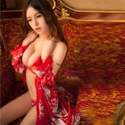 Kimono Sexy à la mode Style Cosplay rôle Play sommeil robe Set femmes - rouge