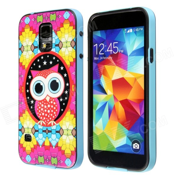 Colorful Fashion Owl Pattern Protective Plastic Back Case for Samsung Galaxy S5 cm001 3d skeleton pattern protective plastic back case for samsung galaxy s4
