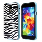 Fashion Zebra Stripe Pattern Protective Plastic Back Case for Samsung Galaxy S5