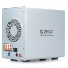 "ORICO 9558RU3 5-Bay Aluminum USB 3.0 to 3.5"" SATA External Hard Drive Enclosure Array Cabinet"