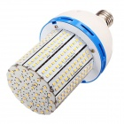 HZT-2001D E27 20W 1900lm 3000K 324-SMD 3528 LED Warm White Corn Lamp - Prata (AC 85 ~ 265V)