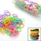"DIY Looms Elastic Silicone Rainbow Band + ""S"" Hook Set for Children - Multicolored"
