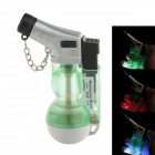 602 Creative Fashion Gourd Shape Wind-proof Gas Lighter w/ LED Light - Green