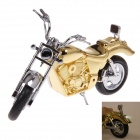 HX-6012 Creative Motorcycle Style Gas Lighter Classical Collection Display Model - Golden