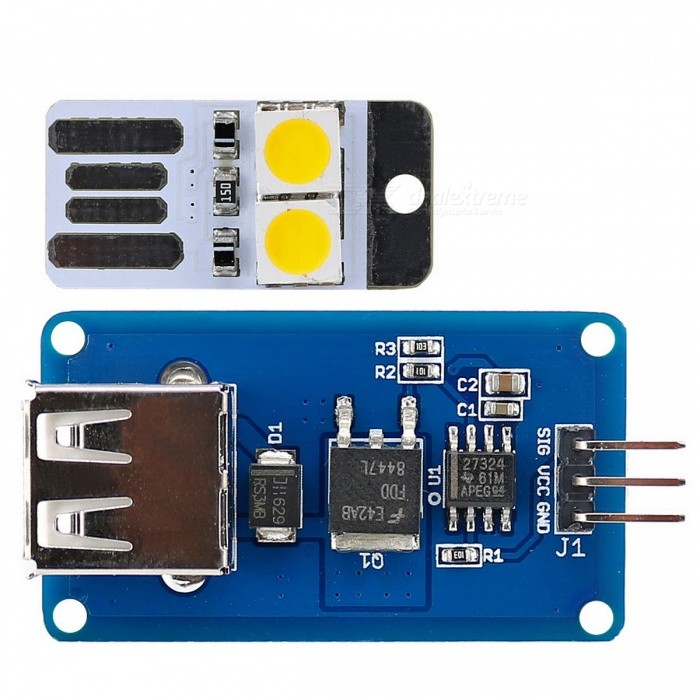 цена на USB LED / Fan Driver Kit Driver Module Stepless Speed / Dimming + USB LED Module for Arduino / AVR