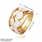 Stylish Butterfly Rhinestone Gold Plated Ring - Golden + White (US Size 8)