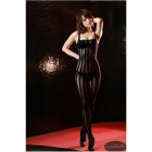 F714 Sexy Luring Temptation See-though Lingerie Sleep Garment - Black