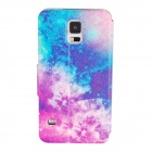 Elonbo J10D11 Protective Flip Open PU Case Cover w/ Display Window + Stand for Samsung Galaxy S5