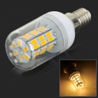 SENCART E14 4W 200lm 3000K 42-SMD 5730 LED Warm White Corn Lamp - White + Transparent (AC 85~265V)