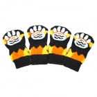 Cute Halloween Pumpkin Pattern Pet dog / Cat Socks - Black + Deep Orange (M, 4 PCS)