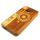 Camera Pattern Detachable Protective Wood Back Case for HTC ONE M7 - Wooden