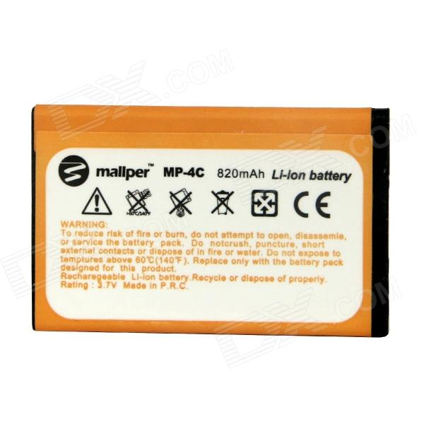 Mallper BL-4C Replacement 3.7V 820mAh Li-Ion Battery for Nokia 1265 / 1325 / 3500C / 6300 + More