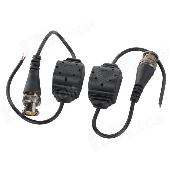 Passive Video Transmitter BNC Connector Cable for Camera Monitor - Black (2pcs)