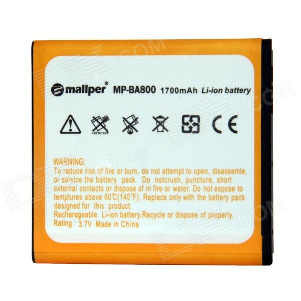 Mallper BA800 1445mAh 3.7V Replacement Li-ion Battery for Sony Xperia S /  LT26i / LT25c / LT25i sony cp s15 s 15000 mah