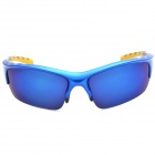 Aolong Men's Blue REVO UV400 Sunglasses Goggles for Cycling / Travel - Blue