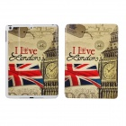 ENK-3355 Big Ben Pattern Flip Open PU Case w/ Stand / Auto-Sleep for IPAD MINI / RETINA IPAD MINI