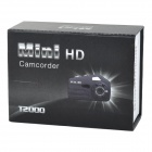 T2000 Mini HD CCD Night Vision Camcorder - Black