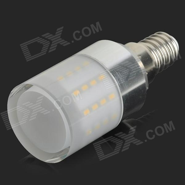 Lexing LX-YMD-104 E14 4.5W 280lm 3500K 50-SMD 3014 LED Warm White Corn Lamp - White (AC 220~240V) lexing lx qp 20 e14 6w 470lm 3500k 15 5730 smd led warm white light dimmable lamp ac 220 240v