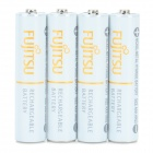 FUJITSU Rechargeable 1.2V 750mAh Ni-MH Batteries Set - White (4 PCS)