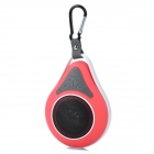 Waterproof Wireless Bluetooth V3.0 Car Speaker w/ Suction Cup - Red
