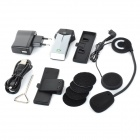 FDC-1000 Capacete Handsfree Phone Call Kit Bluetooth Intercom para Motos-Preto + Prata