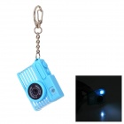 Creative Camera Style LED White Flashlight Keychain w/ Sound - Blue (3 x AG10)