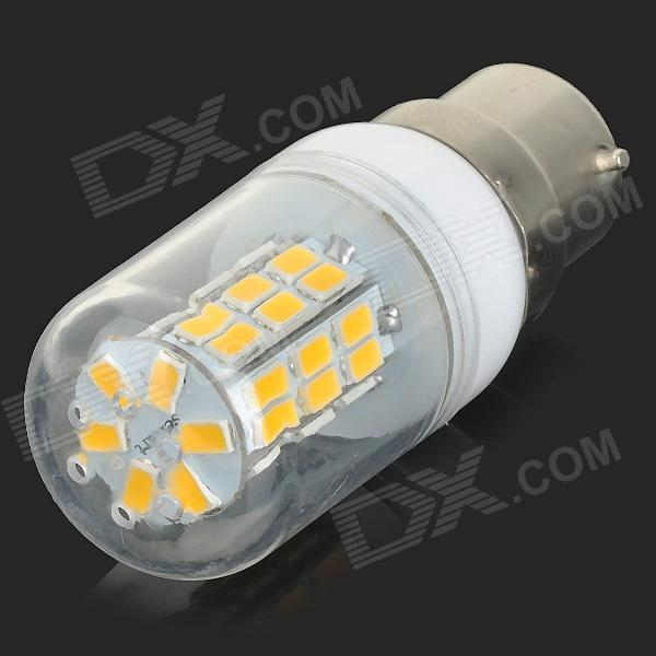 sencart-b22-4w-200lm-3000k-42-smd-5730-led-warm-white-corn-lamp-white-transparent-ac-85265v