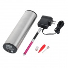 Portable Car Vehicle Bike Tires Digital LCD Screen Electric Air Pump Inflator - Black + Silver