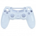 Plastic Protective Front + Back Case Cover for Wireless PS4 Controller - White