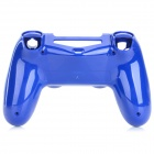 Plastic Protective Front + Back Case Cover for Wireless PS4 Controller - Blue