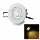 YouOKLight 4W 262lm 3500K 1-COB LED Warm White Embedded Ceiling Light - White + Black (AC 100~240V)