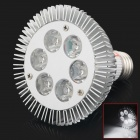 HML E6 E27 6W 600lm 6500K 6-LED White Light Spotlight - Silver (AC 85~265V)