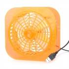 Mode USB Wired tragbare 4-Blatt Fan - Orange
