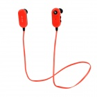 Sport Bluetooth V3.0 In-Ear Earphone w/ Microphone for IPHONE + More - Red + Black