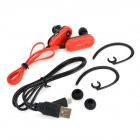 Sport Bluetooth V3.0 In-Ear øretelefon m / Mikrofon til IPHONE + Mer - Rød + Svart