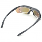 OBAOLAY SP0871 PC Frame PC Lens UV300~400 Polarized Sport Goggles - Black
