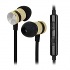 Ipipoo ip-A100Hi 3.5mm In-Ear Earphone w/ Mirophone / Remote - Black + Golden
