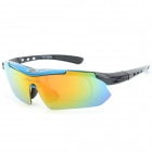 OBAOLAY SP0868 PC Frame Resin Lens UV300~400 Polarized Sport Goggles - Blue + Black