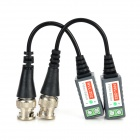 Jiahui BNC Male to Female Video Signal Transmitting UTP Cables - Black + Grey (2 PCS / 15cm)