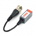 BNC Male to Female Video Signal Transmitting UTP Cables - Black + Grey (2 PCS / 15cm)