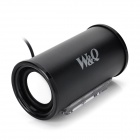 W&Q AT-I004 USB Wired Aluminum Alloy Speaker - Black