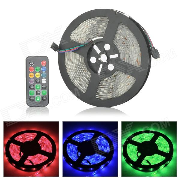 LetterFire Waterproof 36W 1200lm 150-SMD 5050 LED RGB Light Strip - Black (DC 12~24V / 5M) new arrival high quality 24v 5a 120w switching power supply driver for led strip ac 100 240v input to dc 24v free shipping