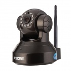 "ESCAM Pearl QF100 1/4"" CMOS 720P P2P IP Camera w/ 10-IR-LED / IR-CUT / TF - Black (EU Plug)"