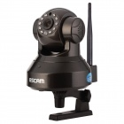 ESCAM QF100 720P 1MP Wi-Fi Surveillance IP Camera - Black (US Plugs)