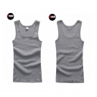 Fashion Comfortable Men's Cotton Vest - Gray (L)